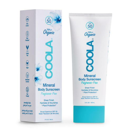 Coola Mineral Body Sunscreen Unscented, SPF50, 5oz