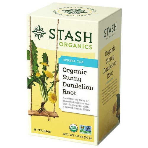 Stash Tea Organic Sunny Dandelion Root Tea, 18 Bags