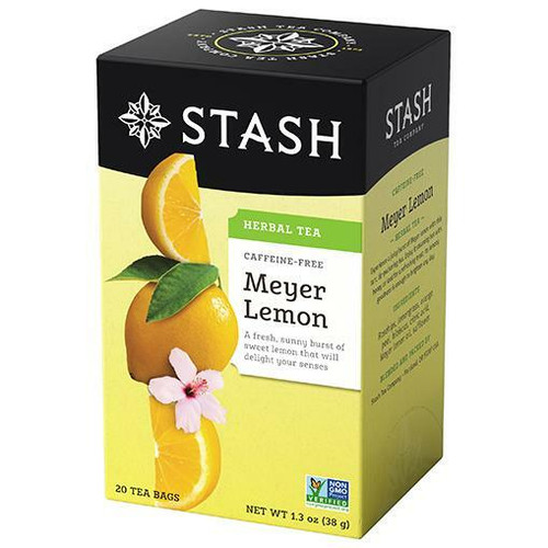 Stash Tea Company Meyer Lemon Herbal Tea, 20 Bags