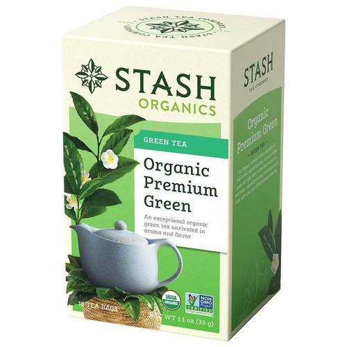 Stash Tea Company Organic Premium Green Tea, 18 Bags