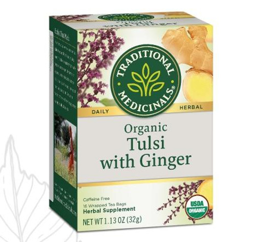 Traditional Medicinals Org Tulsi with Ginger Tea, 16 Bags