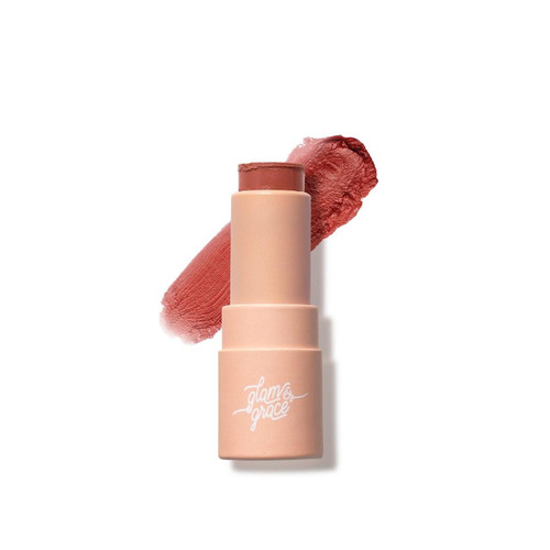 Glam and Grace Mega Color Lip Balm - Muted Red