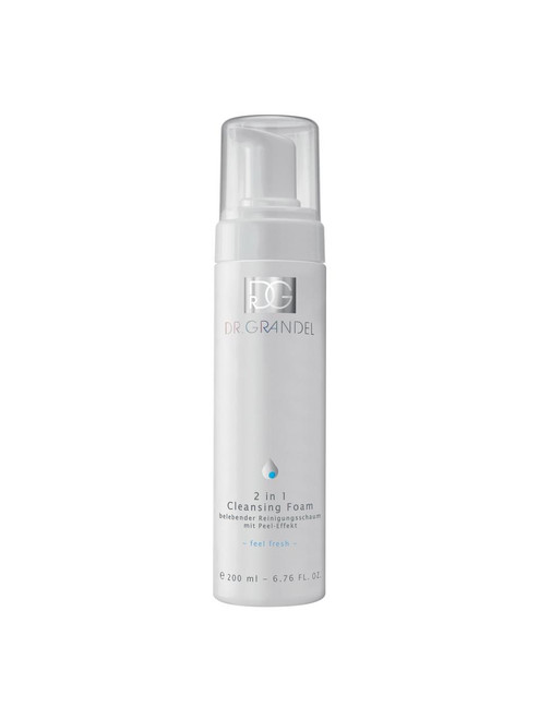 Dr Grandel 2 in 1 Cleansing Foam 7oz dispenser- with a peeling action