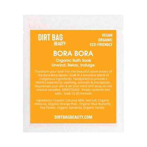 Dirt Bag Beauty Bora Bora Organic Vegan Bath Soak, single use
