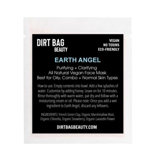 Dirt Bag Beauty Earth Angel Facial Mask, organic, single use