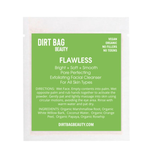 Dirt Bag Beauty Flawless Exfoliating Face Cleanser, organic, single use