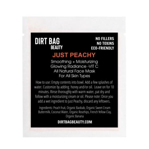 Dirt Bag Beauty Just Peachy Facial Mask, organic, single use