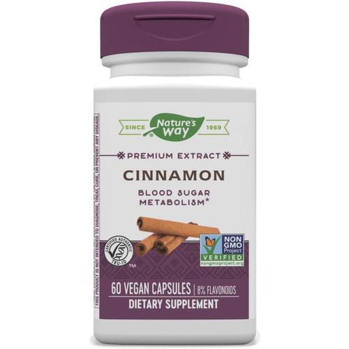 Natures Way Cinnamon Veg Cap, 60ct