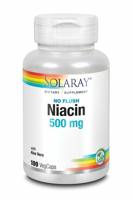 Solaray Niacin, No Flush 100ct 500mg