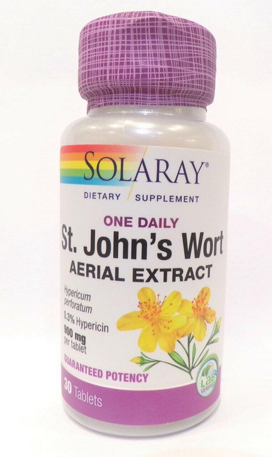 Solaray St Johns Wort Aerial Extract, One Daily 30ct 900mg