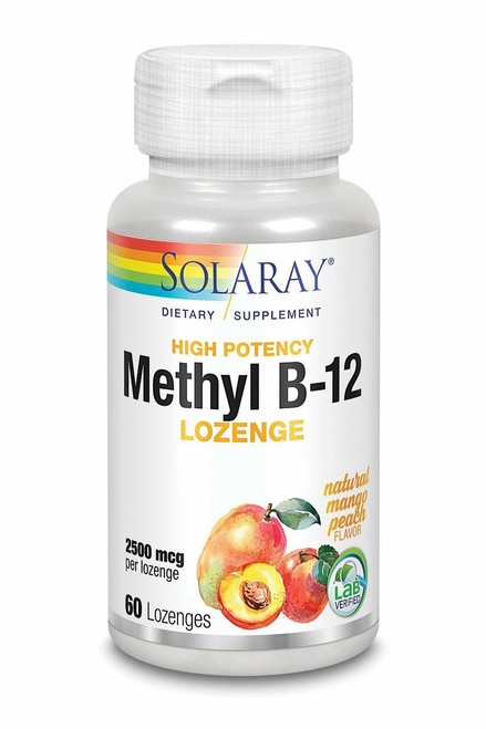 Solaray Methyl B-12 Lozenge, High Potency 60ct 2500mcg
