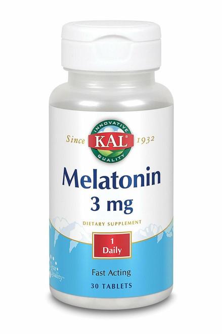 Kal Melatonin 3mg, 30ct