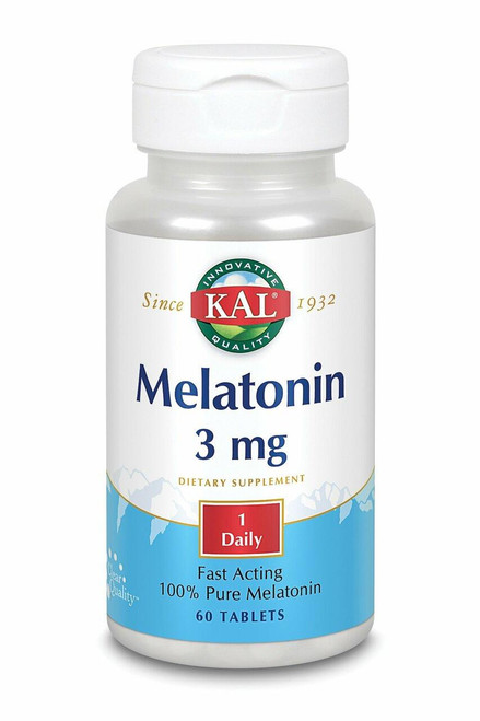 Kal Melatonin Fast Acting, 3mg, 60ct