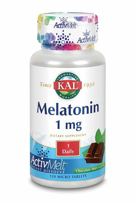Kal Melatonin 1 mg, Activmelt ChocMint 120 ct