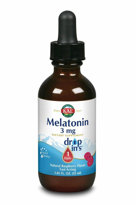 Kal Melatonin Drops, Raspberry Btl-Glass 3mg 1.85oz