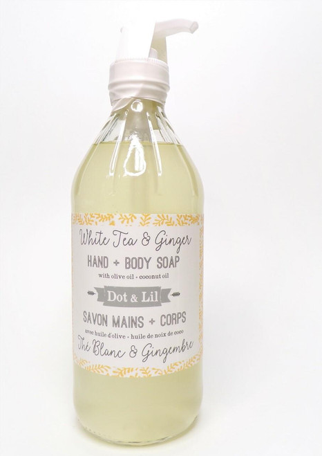 Dot and Lil Liquid HandBody Soap- White Tea and Ginger 16oz