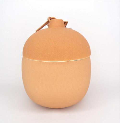 Paddywax Amber Woods - Keepsake 4oz Deep Red Clay Ceramic
