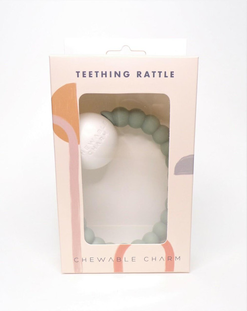 Chewable Charm Teether Toy Rattle, Succulent