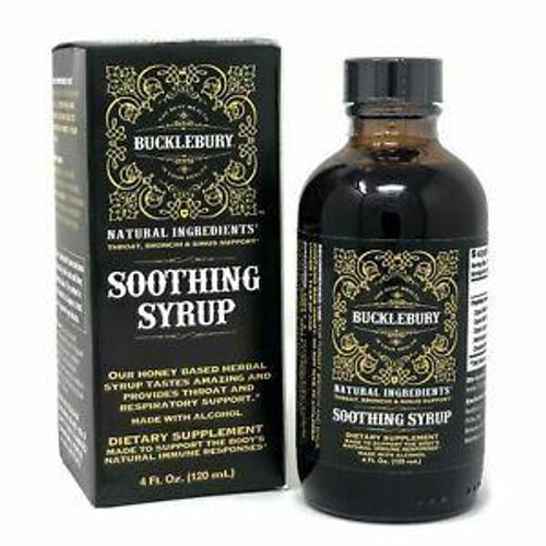 BUCKLEBURY Soothing Syrup 4oz W/ Alcohol