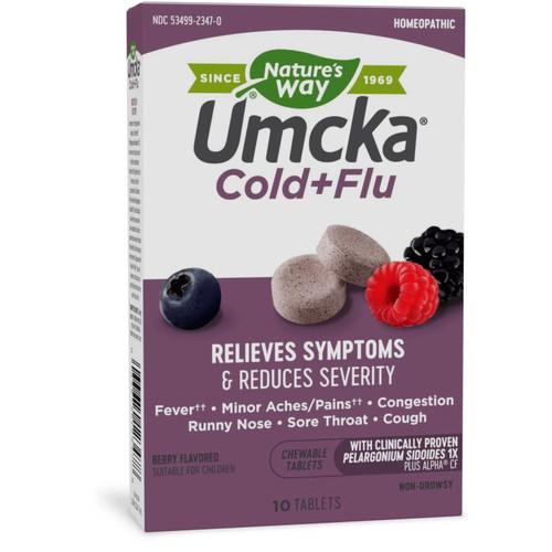 Natures Way Umcka ColdFlu 20 Tablets, Berry