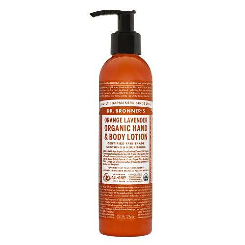 Dr Bronners Orange Lavender Hand and Body Lotion, Organic 8oz