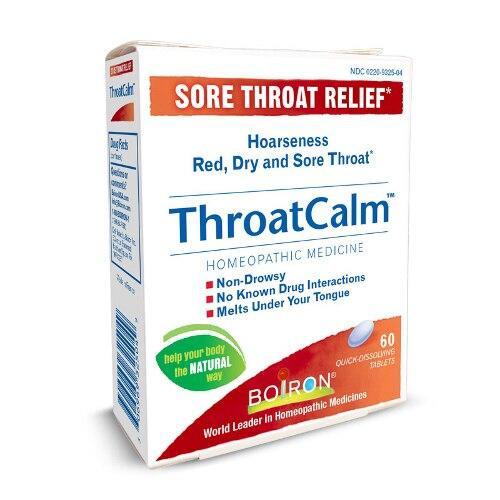 Boiron ThroatCalm Quick-Dissolving 60Tab