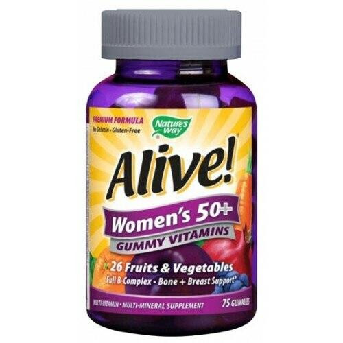 Natures Way Alive Womens 50 Gummy Vitamins 75ct