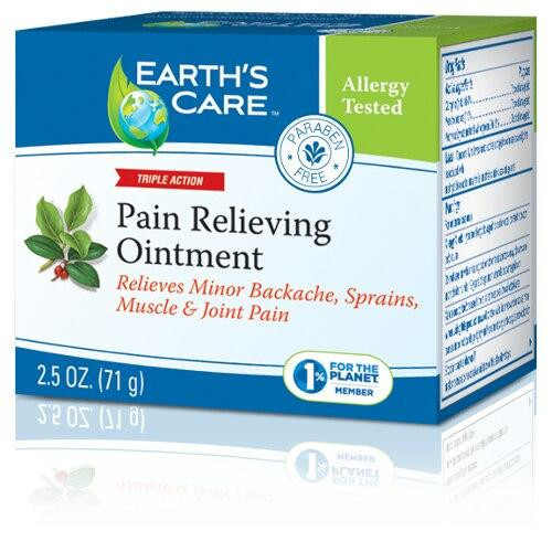 Earths Care Pain Relieving Ointment 2.5oz