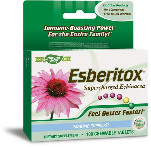 Enzymatic Therapy Esberitox Supercharged Echinacea Chews 100Tab