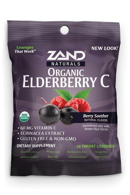Zand HerbaLozenge Elderberry C 18 ct