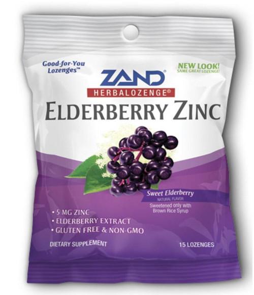 Zand HerbaLozenge Elderberry Zinc 15ct