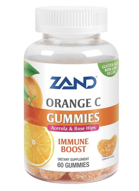 Zand Orange C Gummies, Immune Support with Vitamin C, Acerola and Rose Hips 60ct