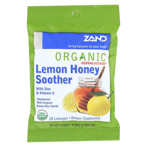Zand HerbaLozenge Lemon Honey Soother 18ct