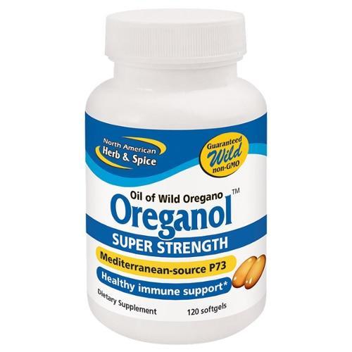 North American Herb and Spice Oreganol P73 Super Strength 120 Gelcps