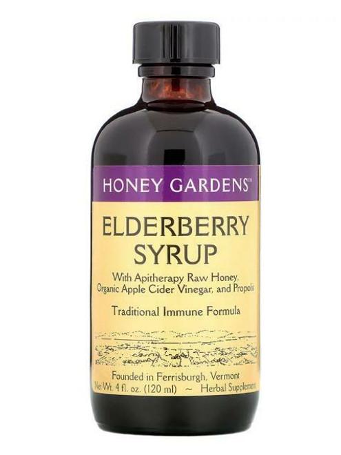 Honey Gardens Elderberry Syrup Btl-Glass 4oz