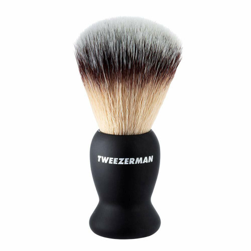 TweezerMan Deluxe Shaving Brush, Black