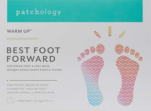Patchology Warm Up Best Foot Forward Softening Foot and Heel Mask - 1 Treatment/Box