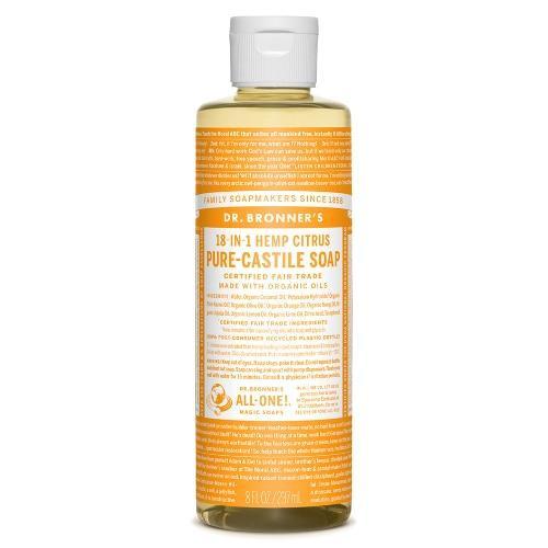 Dr Bronners Hemp Citrus Castile Soap 8oz