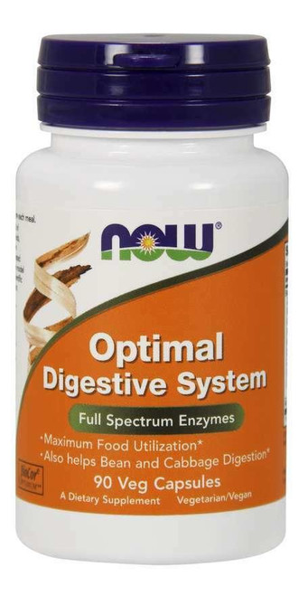 NOW Optimal Digestive System 90 Vcaps