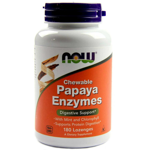 NOW Papaya Enzyme Chewable 180 Tabs