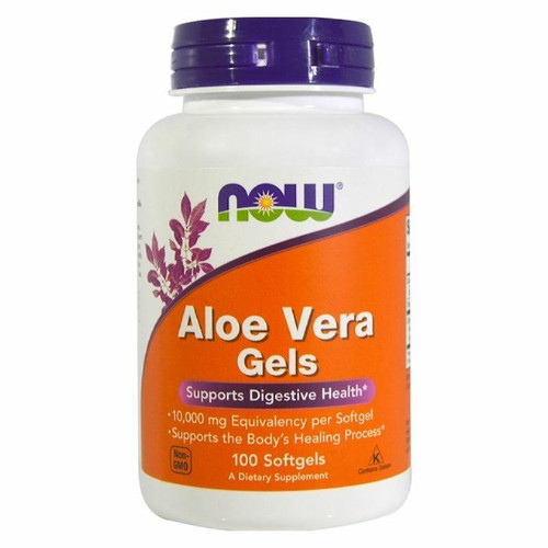 NOW Aloe Vera Gels 10,000mg, 100ct