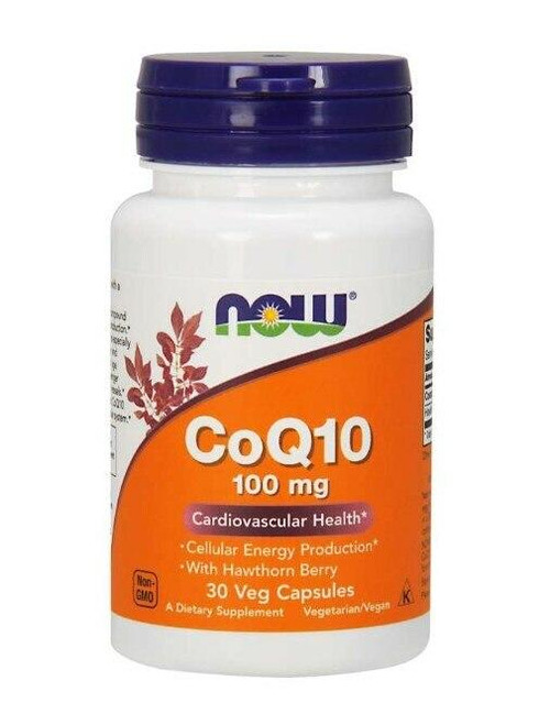 NOW CoQ10 100mg 30 Vcaps