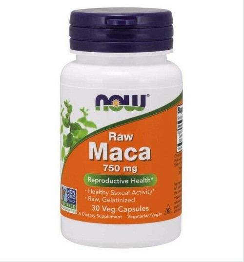 NOW Maca 750 mg 61 Conc 30 Vcaps