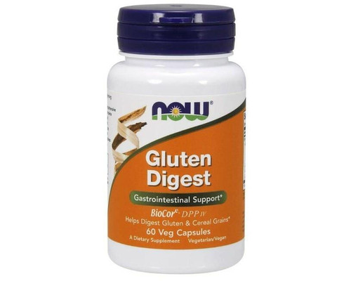 NOW Gluten Digest Enzymes 60 VCaps, NOW