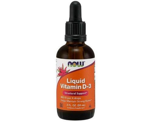 NOW Liquid Vitamin D-3 2oz, NOW