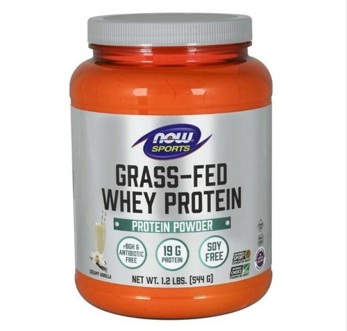 NOW Grass-Fed Whey Protein 1.2lbs Vanilla, NOW