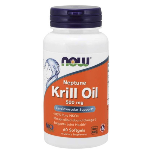 NOW Neptune Krill Oil 500mg 60ct, NOW