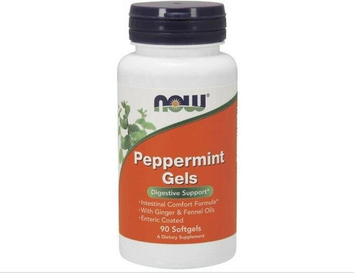 NOW Peppermint Gels 90ct, NOW