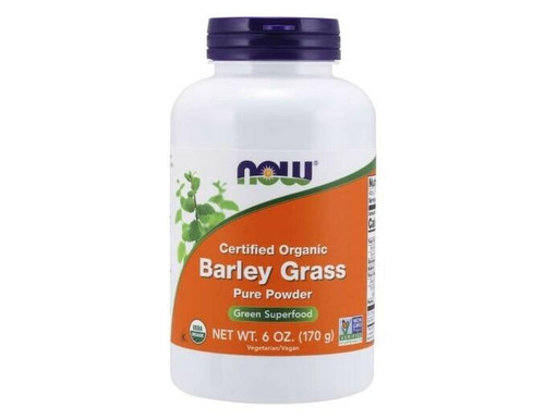 NOW Barley Grass Pure Powder 6oz Organic, NOW