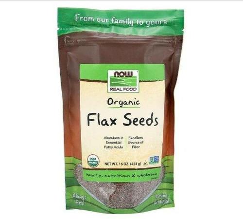 NOW Flax Seeds, Organic 16oz, NOW